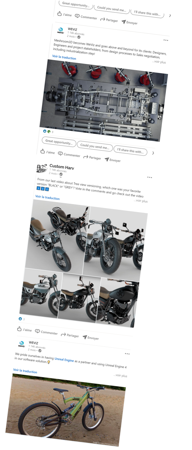 Create 3D product contents for social media on Weviz