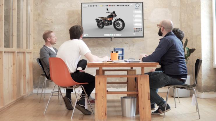 Design review meeting using Weviz